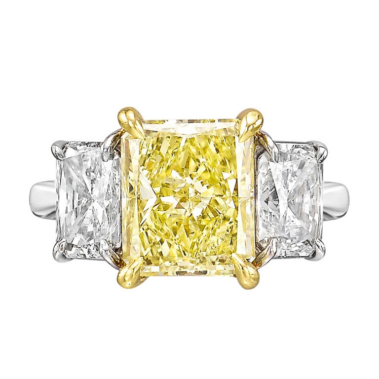 Fancy Yellow Diamond Ring at 1stdibs