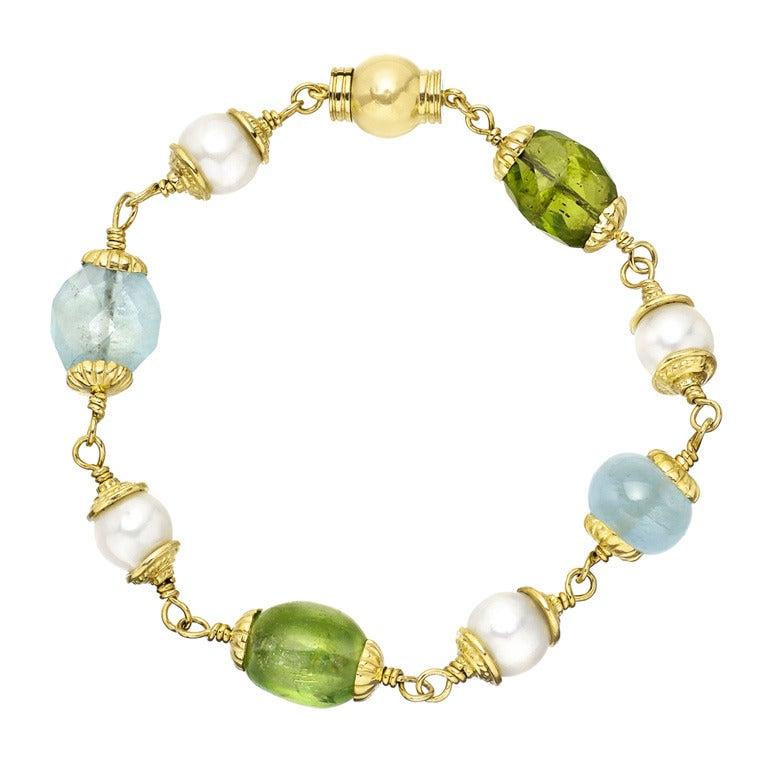 seaman schepps multicolored gemstone and pearl quot baroque
