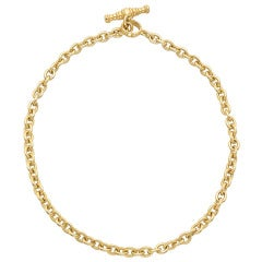Gold Cable Link Necklace