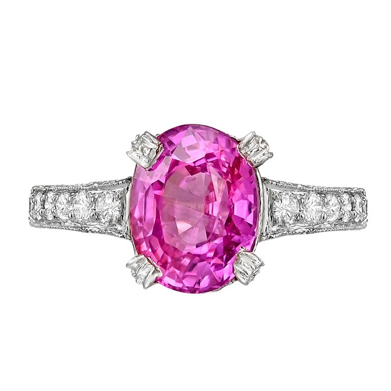 pink sapphire ring at 1stdibs