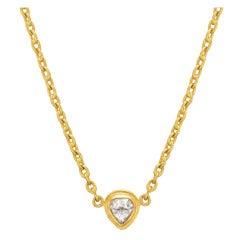 Yossi Harari Rose-Cut Diamond Gold Pendant Necklace