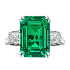 Van Cleef & Arpels Colombian Emerald Diamond Ring