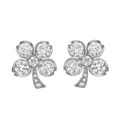 Diamond Four-Leaf Clover Earrings