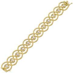 Buccellati Cerchi Diamond Gold Bracelet