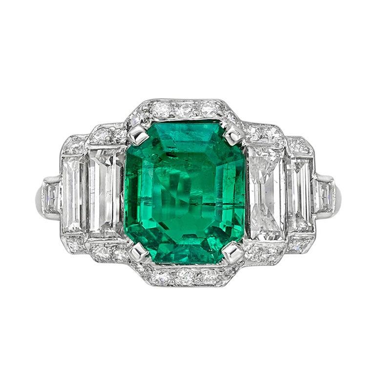 2 93 carat emerald and ring at 1stdibs