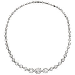 25 carats of  Old Mine Cut Diamonds Necklace