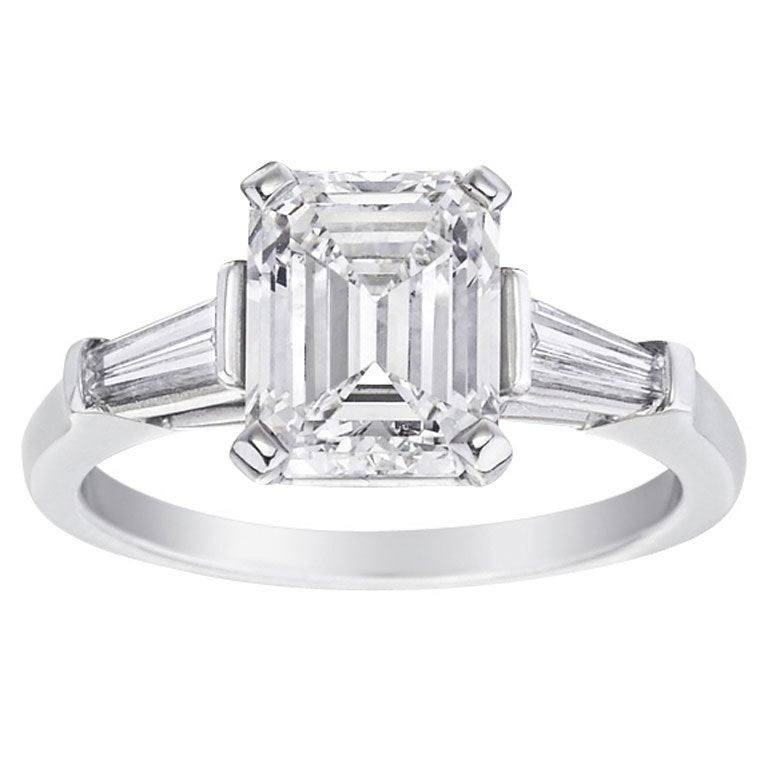 HARRY WINSTON 3 04 Carat Emerald Cut Diamond Engagement Ring at 1stdibs