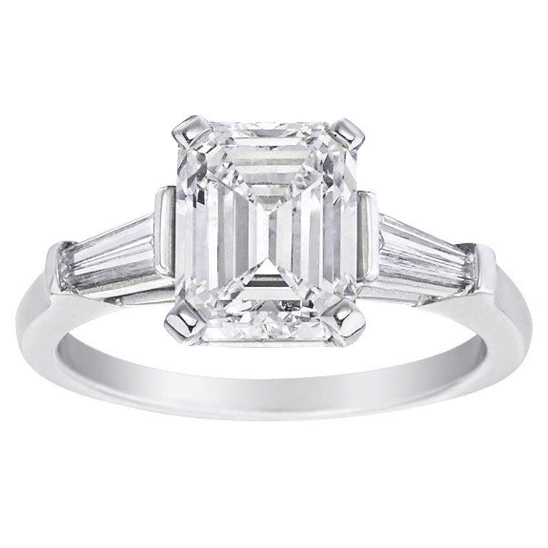 harry winston 3 04 carat emerald cut engagement