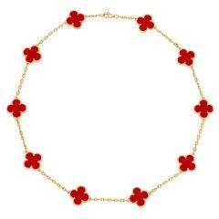 VAN CLEEF & ARPELS Vintage Alhambra Necklace