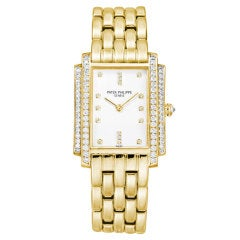 PATEK PHILIPPE Ladies' Gondolo Quartz Yellow Gold & Diamonds