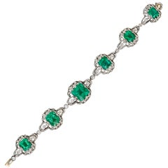 Black, Starr & Frost Antique Emerald and Diamond Bracelet