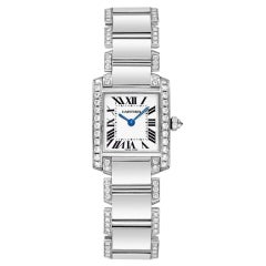 CARTIER Lady's White Gold and Diamonds Tank Francaise Watch