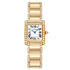 CARTIER Lady's Yellow Gold and Diamonds Tank Francaise Watch