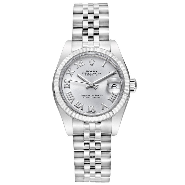 Rolex stainless steel datejust lady 31 wristwatch at 1stdibs for Rolex date just 31