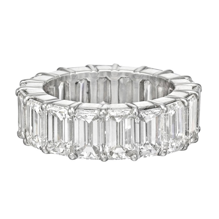 Emerald Cut Diamond Eternity Band Ring At 1stdibs