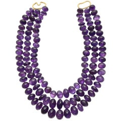 VERDURA 3-Strand Amethyst Bead Necklace