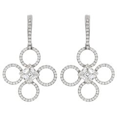 DANIEL K Diamond Open Quatrefoil Drop Earrings