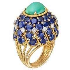 MARCHAK Gem-Set Domed Dress Ring