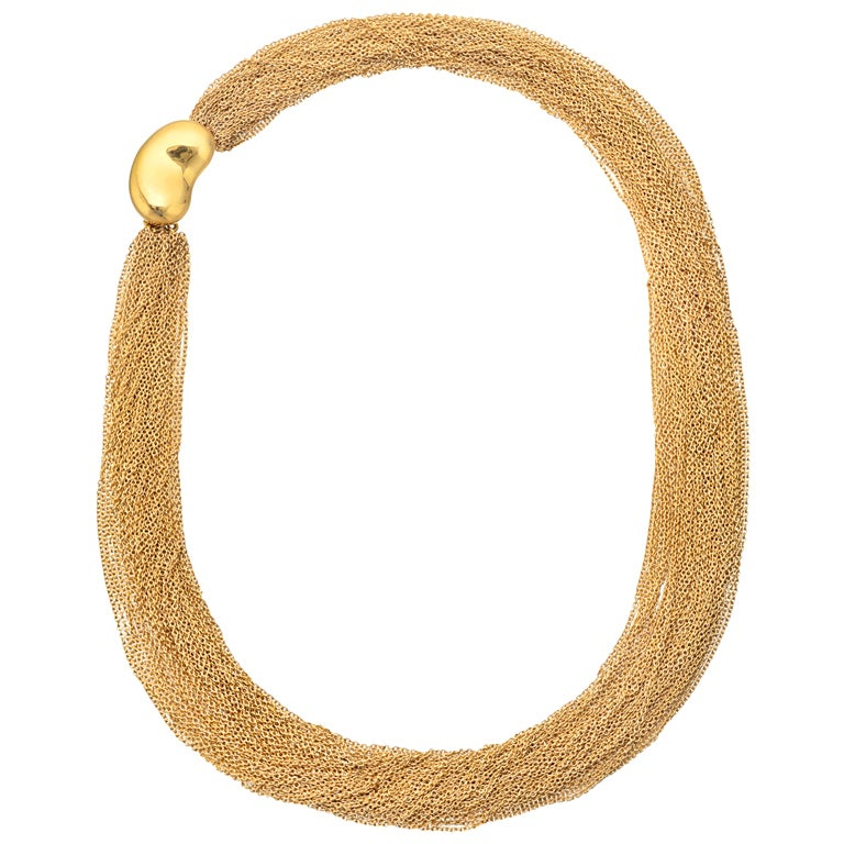 TIFFANY & CO. Elsa Peretti Gold Multi-Chain Collar Necklace 1