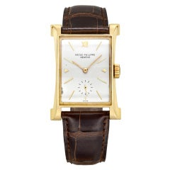 Patek Philippe Yellow Gold Eiffel Tower Wristwatch Ref 2441