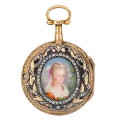 Lapine Paris Madame de Pompadour Portrait Pocket Watch