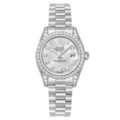 Rolex White Gold and Diamonds Lady Datejust President Wristwatch