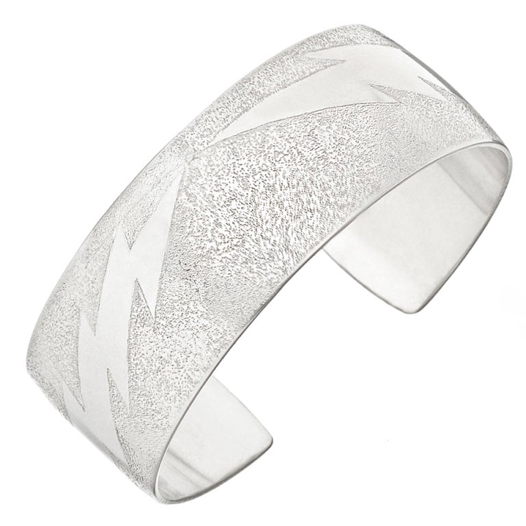 daniel brush textured aluminum lightning bolt cuff at 1stdibs On daniel brush jewelry