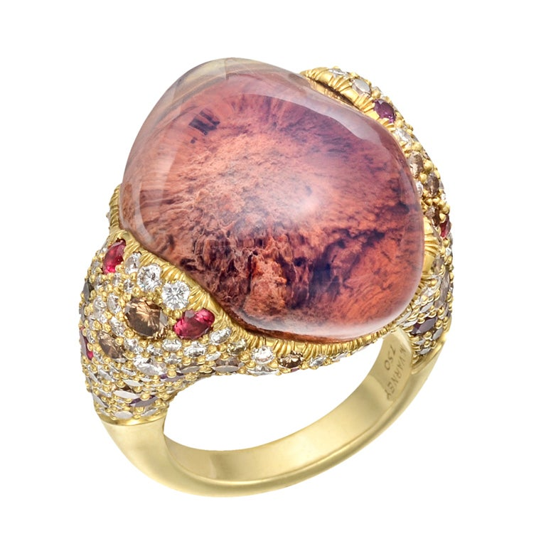NICHOLAS VARNEY Mexican Fire Opal Cocktail Ring