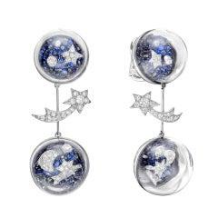 "Chanel Sapphire & Diamond ""Elements Celestes"" Drop Earrings"