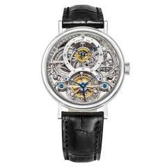 Breguet Platinum Skeleton Tourbillon Wristwatch