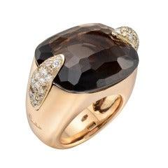 Pomellato Smoky Quartz & Diamond Cocktail Ring