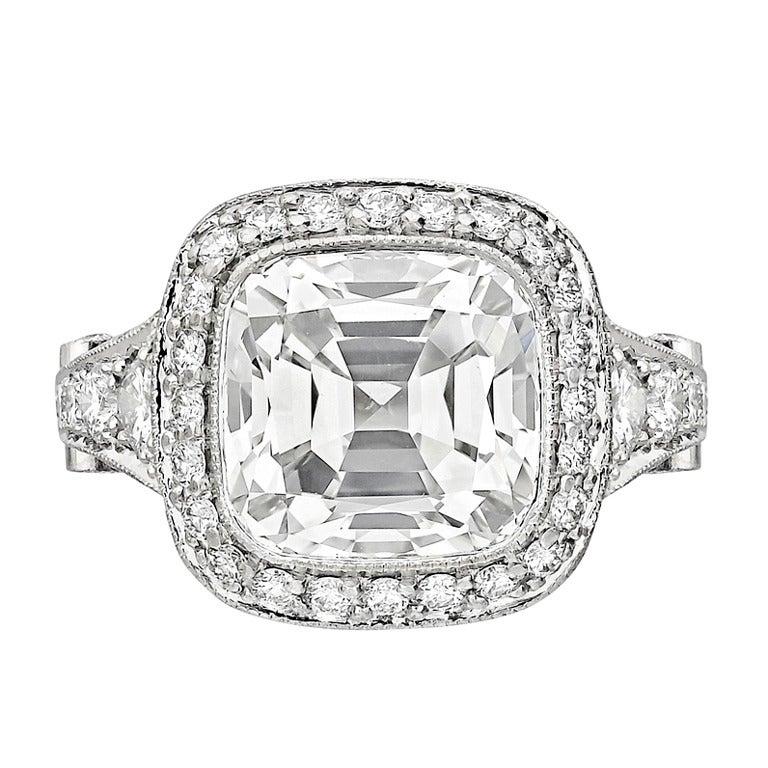 "TIFFANY and CO 3 80 Carat Cushion Cut Diamond ""Legacy"" Ring at 1st"