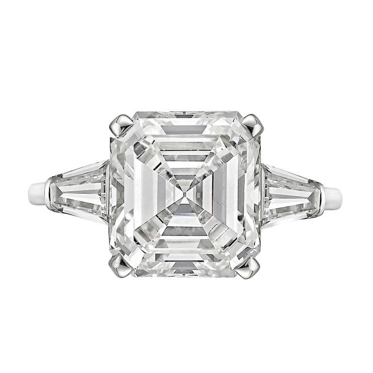 Carat emerald cut diamond ring at 1stdibs for 26 carat diamond ring