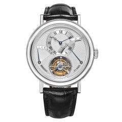 Breguet  Platinum Tourbillon Power Reserve Wristwatch