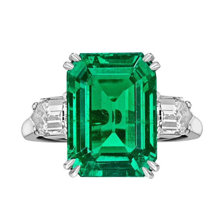 cleef and arpels 8 20 carat emerald cut