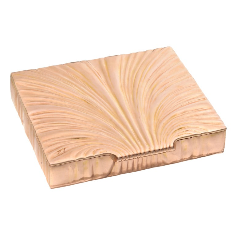 "VERDURA Rose Gold ""Shell"" Cigarette Case image 2"