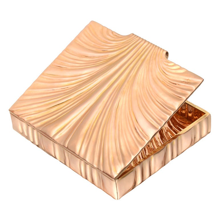 "VERDURA Rose Gold ""Shell"" Cigarette Case"