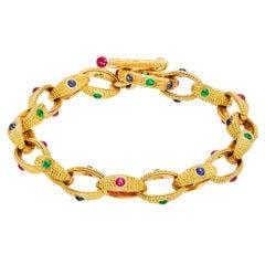 ALEX SEPKUS Gold & Gem-Set Link Bracelet