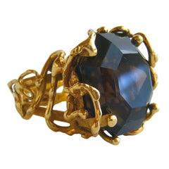 ARTHUR KING Gold and Smokey Quartz Ring
