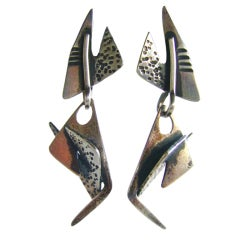 Ed Wiener Studio Sterling Earrings