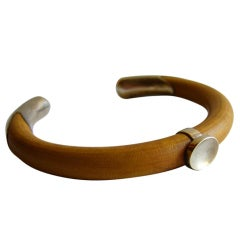 ELSA PERETTI for TIFFANY & Co. Wood and Sterling Cuff Bracelet