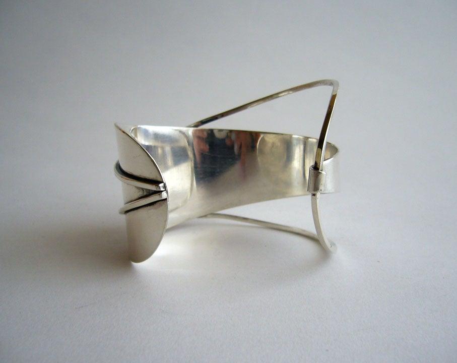Paul Lobel Sterling Silver Cuff Bracelet 4