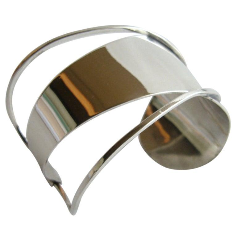 Paul Lobel Sterling Silver Cuff Bracelet 1