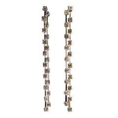 Gold Diamond Fringe Earrings