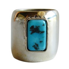 H. FRED SKAGGS Sterling Turquoise Ring