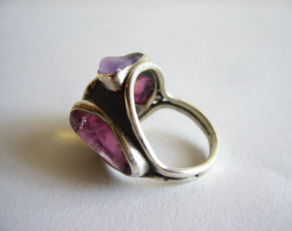 H Fred Skaggs Sterling Gemstone Ring At 1stdibs