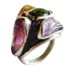 H. Fred Skaggs Sterling Gemstone Ring