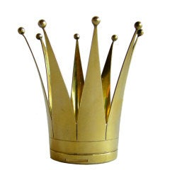 Rare Swedish Sterling Vermeil Wedding Crown