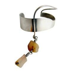 Paul Lobel Studio Agate Sterling Silver Cuff Bracelet