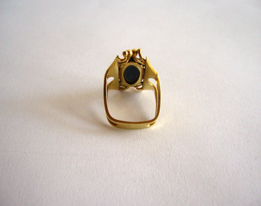 Women's SHOSHANNA Gold and Lapis Lazuli Ring For Sale